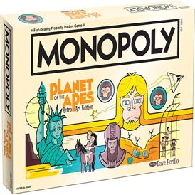 juego de mesa monopoly planet of the apes retro art edition