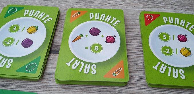 Puntos Clasificación del juego de cartas de ensalada